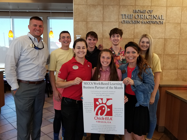 Chick-fil-A recognized as the October 2019 Business Partner of the Month