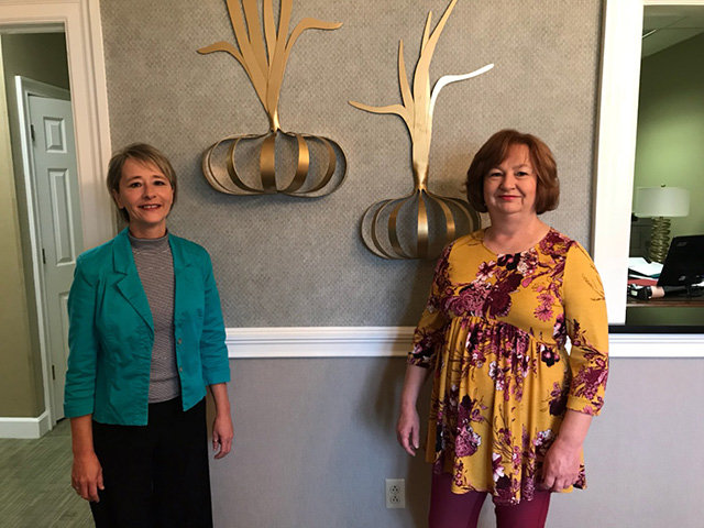 Our newest board members, Michelle Johnson and Debbie Evans